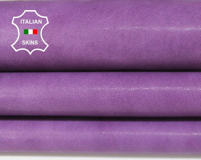 WASHED PURPLE ANTIQUED rustic vegetable tan Italian Lambskin Lamb sheep leather skin hide skins hides 5-8sqf 1.2mm #A6697