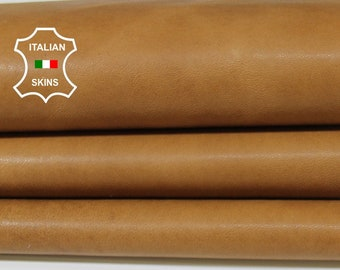 NATURAL TAN NAKED vegetable tanned Italian Lambskin Lamb Sheep leather material for crafts 6-9sqf 1.0mm #A6974
