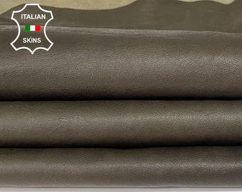 OLIVE GREEN ANTIQUED rustic look vegetable tan soft Italian lambskin lamb sheep leather hides hide skin skins 7sqf 0.8mm #A8298