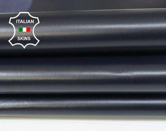 MIDNIGHT BLUE SHINY very dark blue smooth Italian Lambskin Lamb Sheep Leather crafts bookbinding skins 5sqf 0.7mm #A7047