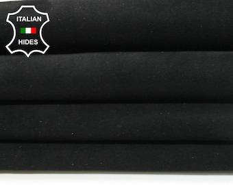 BLACK SUEDE soft Italian Goatskin Goat Leather skin hide 2 skins hides total 8sqf 1.0mm #A4939