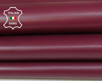 MULBERRY plum smooth Italian Lambskin Lamb Sheep leather crafts bookbinding skin hide skins hides 6-7sqf 1.0mm #A7048