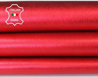 METALLIC RED Italian Lambskin Lamb Sheep leather skin hide skins hides 5-6sqf 1.1mm #A6651