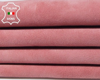 ROSE PINK SUEDE dusty pink soft Italian Lambskin Lamb Sheep leather skin hide skins hides 5sqf 0.8mm #A5458
