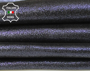 BLUE Midnight SHIMMER and SHINE dark blue crackle pearlized Goatskin Goat Leather skins material for sewing crafts 4sqf 0.9mm #A6025