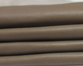 TAUPE BROWN soft Italian genuine lambskin lamb sheep leather skin skins hide hides 6sqf #A2758