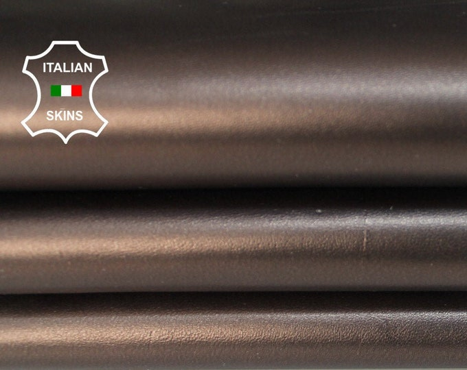 METALLIC BRONZE Italian Lambskin Lamb Sheep leather material for sewing crafts 3 skins hides total 16sqf 0.7mm #A6147