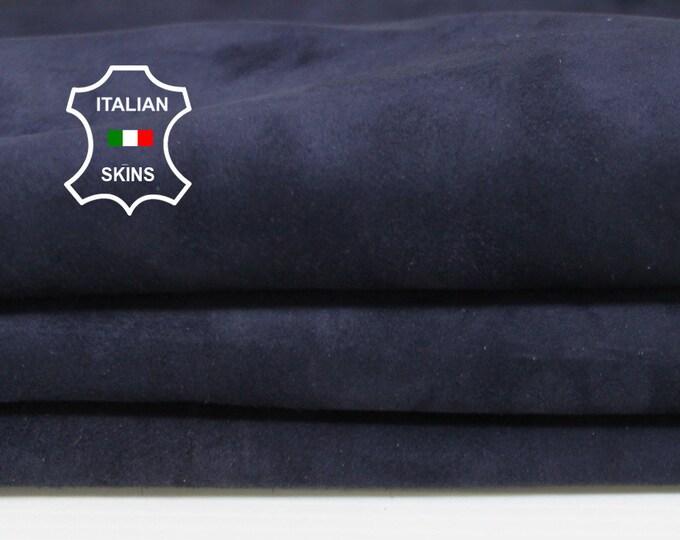 DARK BLUE SUEDE soft Italian Calfskin Calf leather material for sewing crafts skin hide skins hides 6sqf 0.8mm #A6705