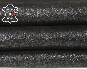 BLACK SHIMMER and SHINE crackle pearlized look Goatskin Goat Leather skins material for sewing crafts 3sqf 0.9mm #A6026