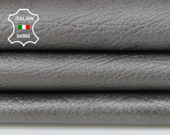 GREY PEARLIZED gray rhino grainy Italian Goatskin goat leather material sewing craft crafts skin hide skins hides 5sqf 0.9mm #A6089