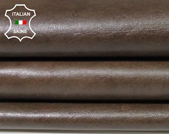 NATURAL BROWN antiqued rustic vintage vegetable tan Italian Lambskin Lamb sheep leather skin hide skins hides 4sqf 0.8mm #A5579