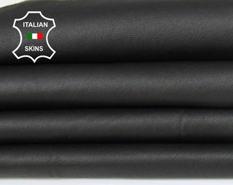 STRETCH BLACK thin soft Genuine Italian Lambskin Lamb Sheep leather material for sewing crafts skin hide skins hides 5sqf 0.5mm #A6111