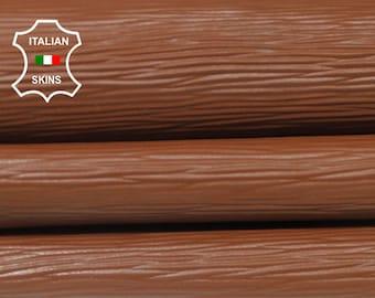 BROWN Textured EPI embossed Italian Goatskin Goat genuine leather 12 skins hides total 90sqf 0.9mm