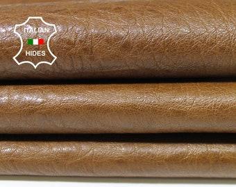 WASHED KHAKI BROWN Italian genuine Lambskin Lamb leather skins hides skin hide vegetable tan 5sqf #A3235