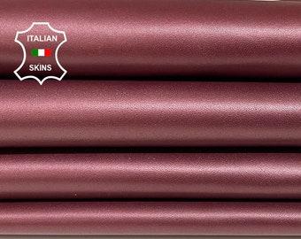 WINE RAISIN PEARLIZED Italian lambskin lamb sheep leather skin skins hide hides 4-9sqf 1.0mm #A8413