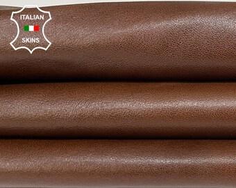 BROWN ANTIQUED DISTRESSED  vegetable tan Italian goatskin goat leather skin skins hide hides 7sqf 0.7mm #A8436