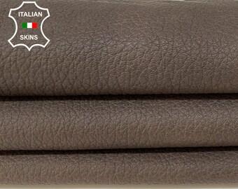 BROWN MATTE ANTIQUED grainy rough vegetable tan soft Italian goatskin goat leather skin skins hide hides 4+sqf 1.1mm #A8397