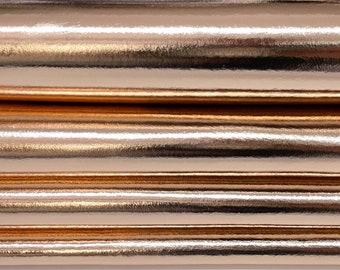 METALLIC ROSE GOLD Italian Lambskin Lamb Sheep leather skin skins hide hides 5-8sqf 0.7mm