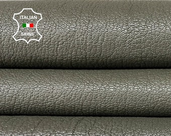 ARMY PETROL GREEN rough vegetable tan thick Italian goatskin goat leather skin skins hide hides 7+sqf 1.6mm #A8450