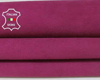BERRY SUEDE Italian Genuine Goatskin Goat leather sewing material crafts skin hide skins hides 3-4sqf 1.0mm #A7051