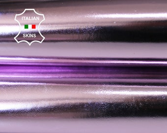 METALLIC MIRROR PINK light pink strong Italian Goatskin Goat leather skin hide skins hides 2-4sqf 0.7mm #A6653