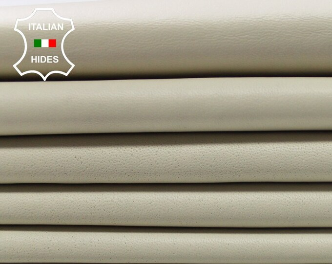 IVORY creamer Italian soft lambskin lamb sheep leather hide skin hides skins material for sewing 0.7mm