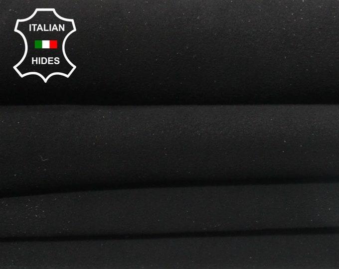 BLACK SUEDE Italian Goatskin Goat Leather 2 skins hides total 11sqf 1.2mm #A4937