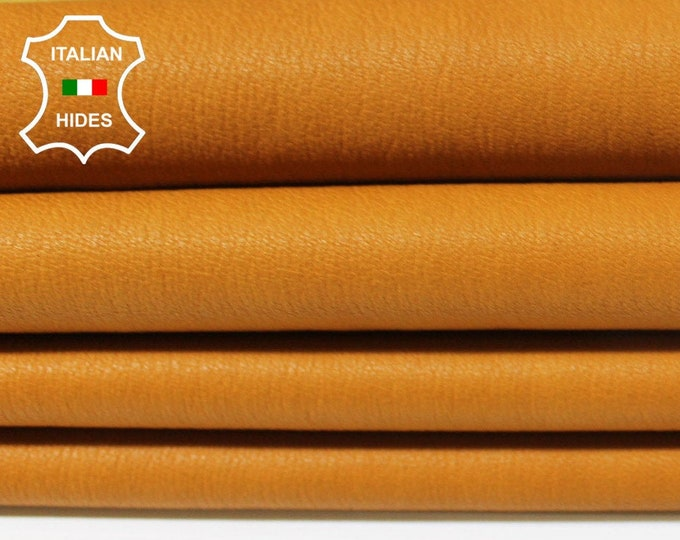 STRETCH NATURAL ORANGE soft Italian Lambskin Lamb Sheep leather skin hide skins hides 5sqf 0.6mm #A5303