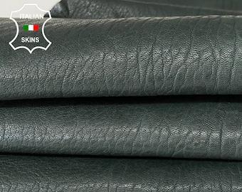 PINE DARK GREEN rustic antiqued rough vegetable tan thick Italian goatskin goat leather hide hides skin skins 5sqf 1.2mm #A8189