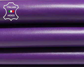 PURPLE smooth Italian Lambskin Lamb Sheep leather skin hide skins hides 4sqf-6sqf 0.8mm #AMP150