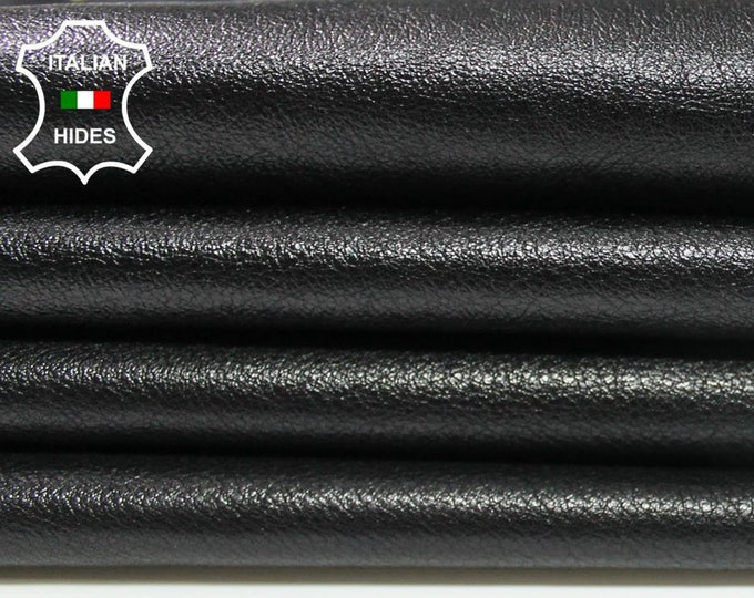 BLACK Shiny rough soft Calfskin Calf Cow Cowhide upholstery leather skin hide skins hides 13sqf 1.1mm #A4294