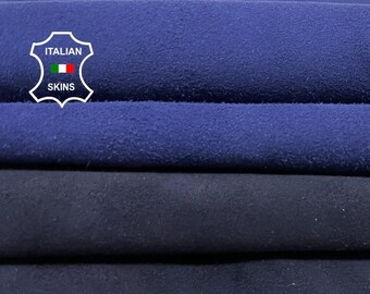 PACK SUEDE BLUE soft Italian goatskin goat leather pack 2 skins total 7sqf 0.8-1.0mm #A8367