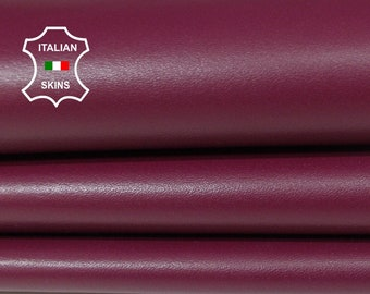 MULBERRY plum smooth Italian genuine Lambskin Lamb Sheep wholesale leather skins material for sewing high quality 0.5mm to 1.2mm