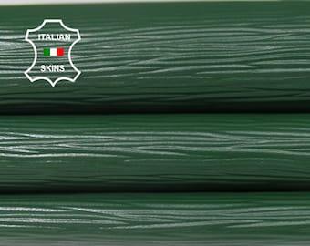 GREEN Textured EPI embossed Italian Goatskin Goat genuine leather 12 skins hides total 90sqf 0.9mm