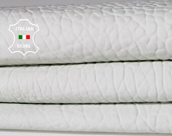 NATURAL GRAINY WHITE Italian Lambskin Lamb sheep leather material for sewing crafts skin hide skins hides 5sqf 1.0mm #A6701