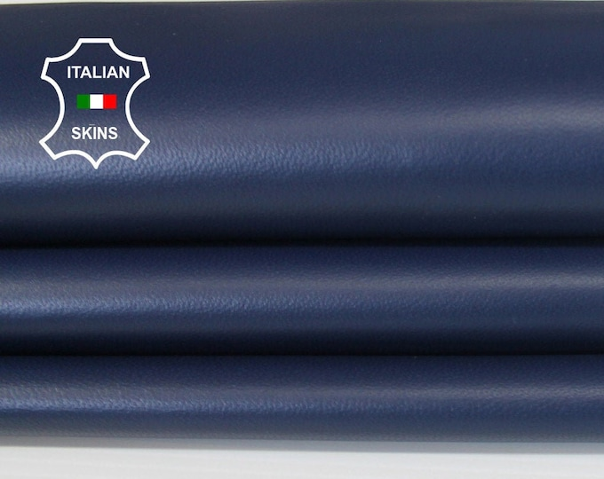 NAVY BLUE dark blue soft Italian Lambskin Lamb Sheep leather material for crafts skin skins hides 4-11sqf 0.6mm #A6558