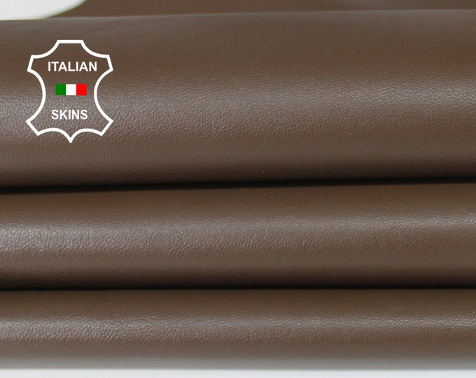 BROWN Italian Lambskin Lamb Sheep leather for crafts bookbinding skin hide skins hides 8sqf 0.7mm #A6696