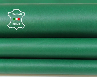 GREEN soft Italian Lambskin Lamb Sheep leather material for sewing fabric skin hide skins hides 7sqf 0.7mm #A5971