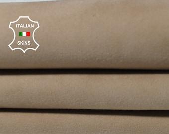 SAND SUEDE sandy beige soft Italian Lambskin Lamb Sheep leather skin hide skins hides 5sqf 0.8mm #A5460