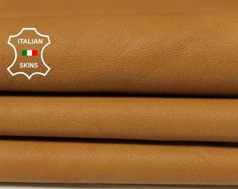 NATURAL TAN vegetable tanned Italian Lambskin Lamb sheep leather skin hide skins hides 6sqf 0.8mm #A5583