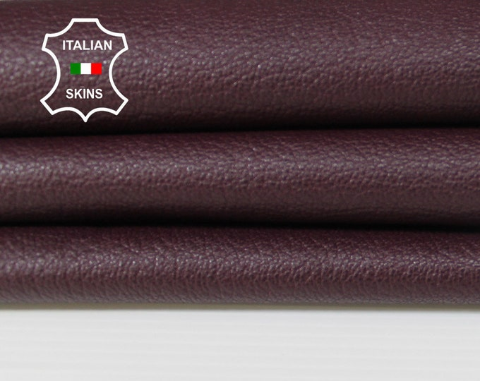 PLUM Wine grainy rough Italian Goatskin Goat leather material for crafts skin hide skins hides 4-5sqf 0.8mm #A6287