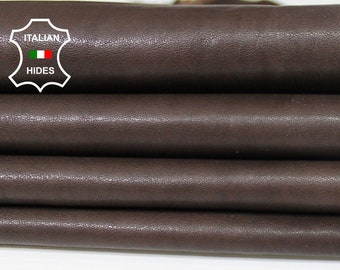 BROWN ANTIQUED vegetable tan tanned soft Italian Lambskin Lamb Sheep leather 2 skins hides total 12sqf 0.7mm #A5427