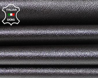 PEBBLE DARK BROWN grainy textured embossed Italian Lambskin Lamb Sheep genuine leather 4 skins hides total 20sqf 0.5mm