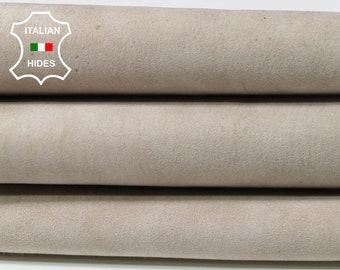 STRETCH BEIGE SUEDE bone bones beige soft Italian Lambskin Lamb leather skin hide skins hides 3sqf 1.2mm #A5379