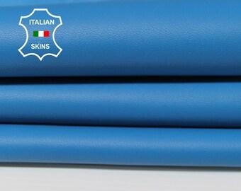 BLUE Italian Lambskin Lamb Sheep leather skin hide hides skins 6sqf 0.8mm #A5515