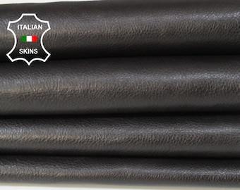 VERY DARK BROWN soft rough Italian Calfskin Calf cow cowhide leather upholstery skin hide skins hides 7sqf 0.8mm #A6783