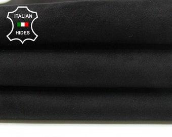 BLACK SUEDE soft Italian Lambskin Lamb leather skin hide skins hides 4sqf 0.9mm #A5378