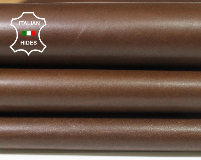 NATURAL BROWN thin soft Italian Calfskin Calf cow leather material for sewing hide skin skins hides 6sqf 0.4mm #A4700