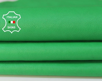 WASHED LIME GREEN soft Italian Lambskin Lamb Sheep leather material for sewing fabric skin hide skins hides 7sqf 0.9mm #A5973