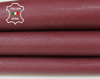 WINE BORDEAUX rough thick Italian Calfskin Calf cow cowhide upholstery leather skin hide skins hides 6-9sqf 1.3mm #A6756